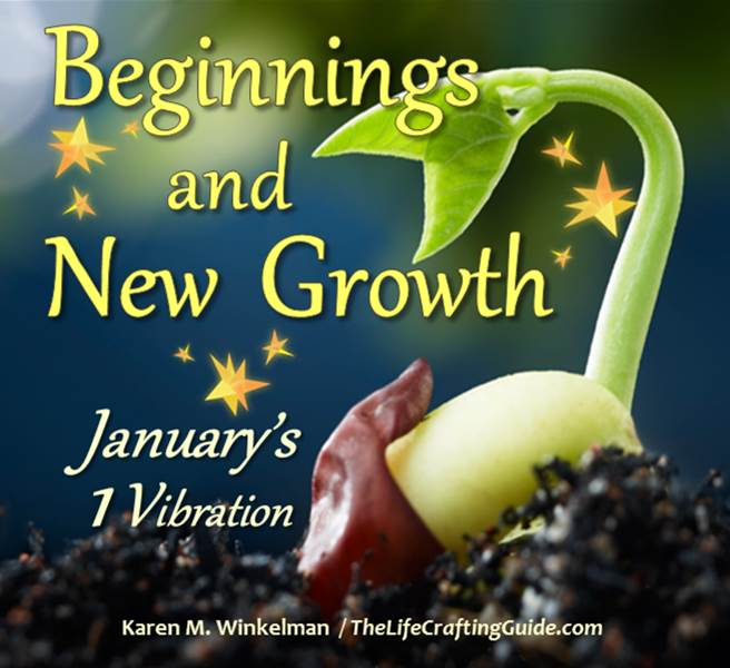 A seed sprouting; the words Beginning and New Growth