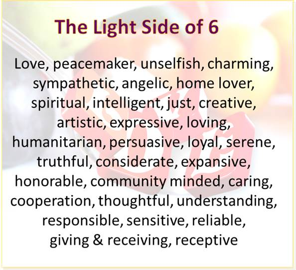 the light side of the 6 vibration