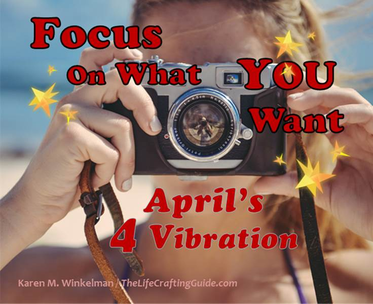 Girl holding a camera at beach; focus on what you want; April's 4 vibration