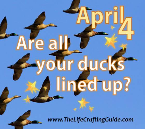 Ducks flying; Are all your ducks lined up?