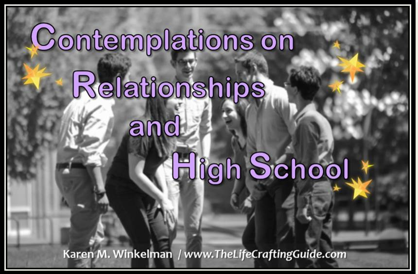 contemplations on relationships and high school