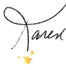 Karen, signature with 3 small stars